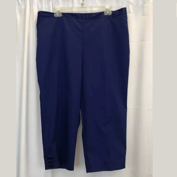 ed841a671ae Alfred Dunner blue Capri pants size 18 NEW